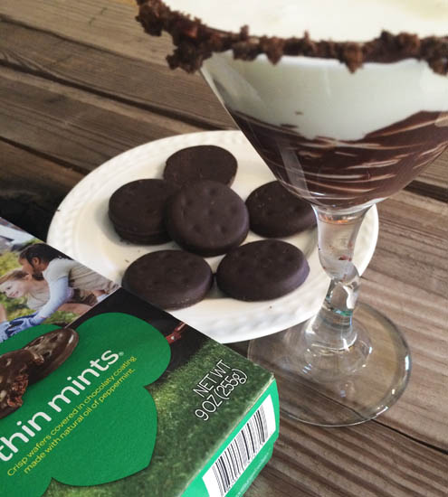 thin mint martini